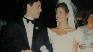 πρώτος γάμος με τον Σταύρο Γαρδέρη