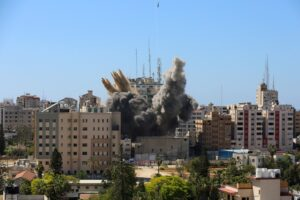 βομβαρδισμένο κτιρίο Associated Press