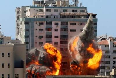 Γάζα: Εικόνες ΣΟΚ του βομβαρδισμένου κτιρίου Associated Press